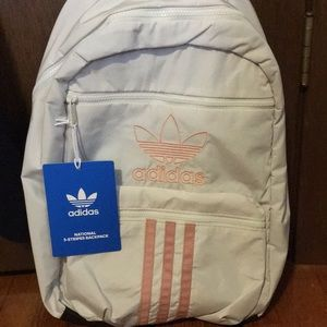 NWT Adidas orbit grey and trace pink backpack